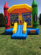 Minions Large Crayon Bounce House With Basketball Hoop