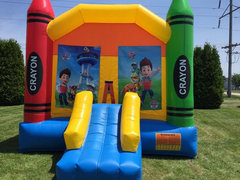 Paw Patrol Large Crayon Bounce House With Basketball Hoop