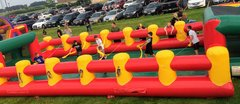 Huge Human Foosball Game