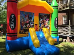 Mickey Mouse Clubhouse Large Crayon Bounce With Basketball Hoop