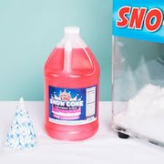 Red Cherry Snow Cone Syrup and Cups