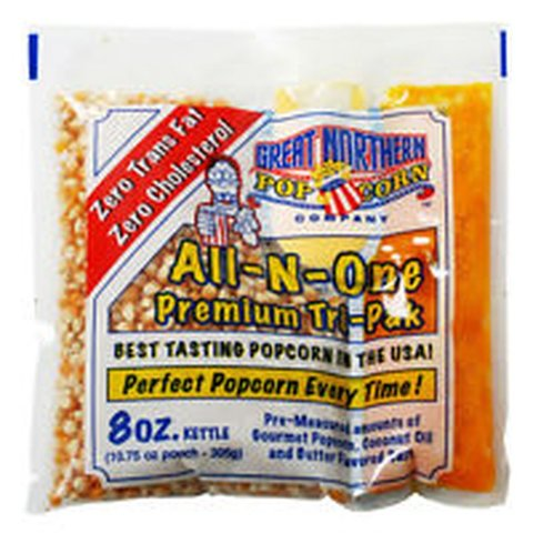One Bag of Popcorn for up to 8 servings with bags