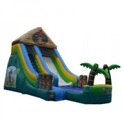 16ft Tiki Island Water Slide