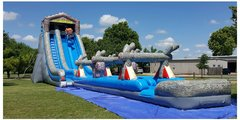 27' Log Mountain Wave Water Slide with Slip n Slide