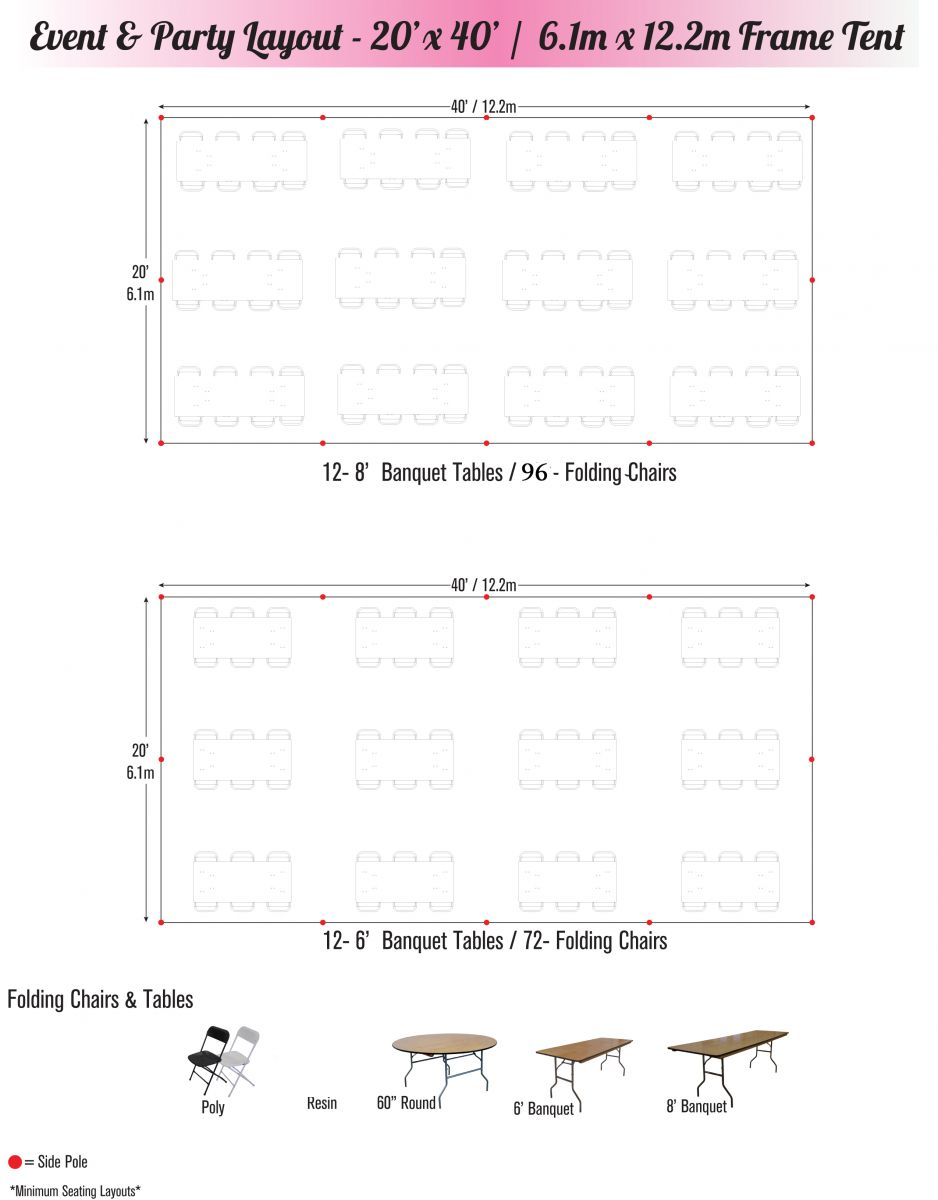 20 x 40 tent seating chart