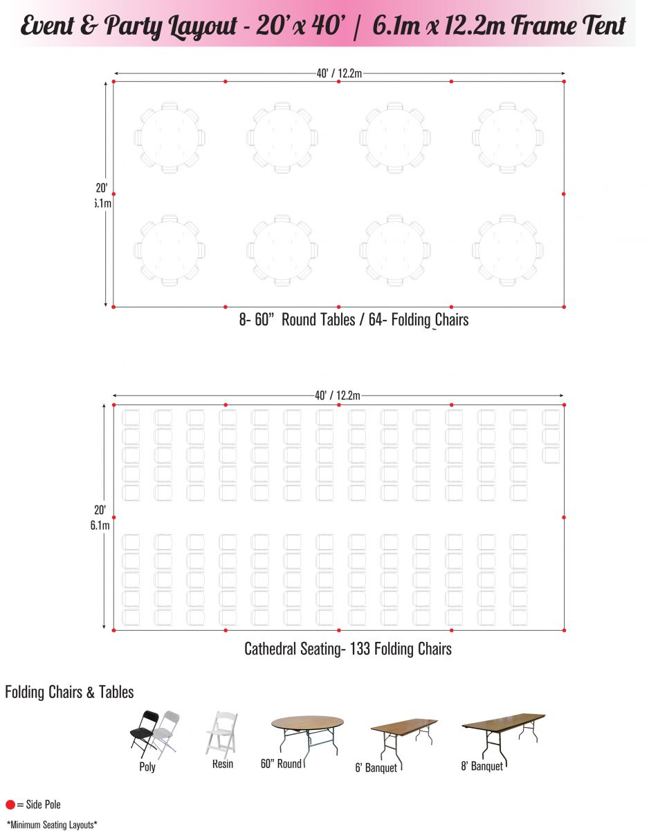 20 x 40 tent seating chart 2