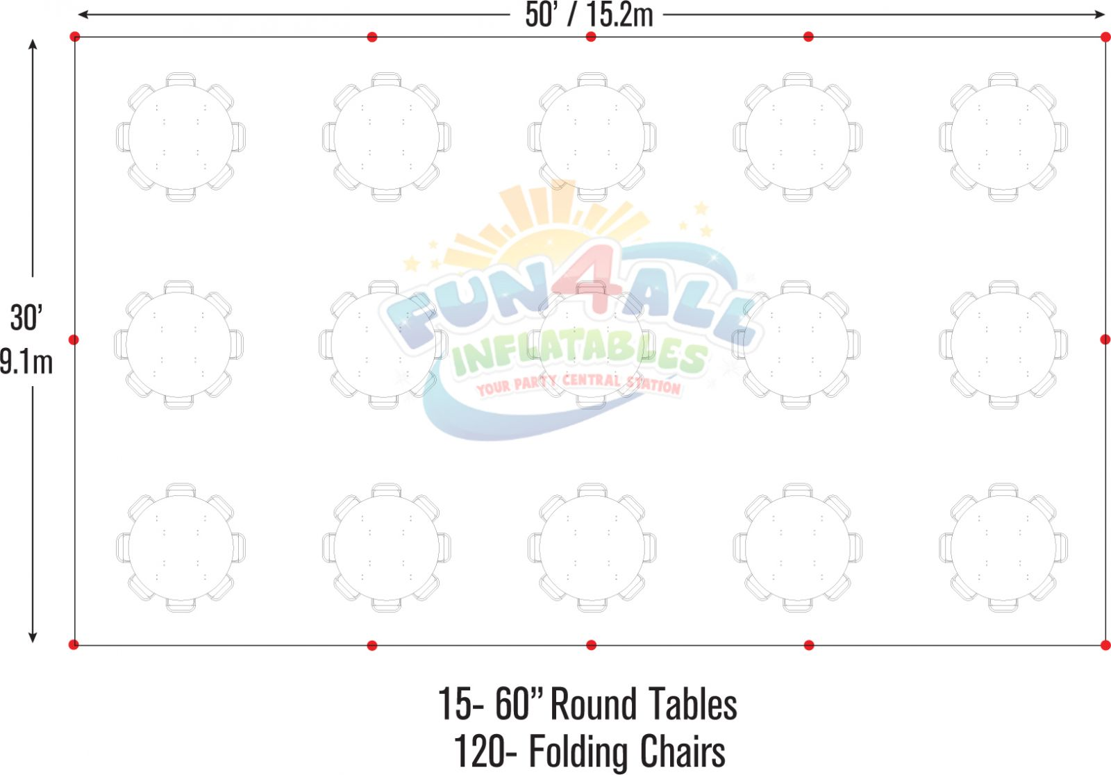 30 x 50 tent rental seating chart