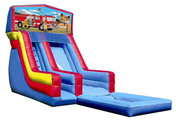 Firetruck Inflatable Water Slide Navarre