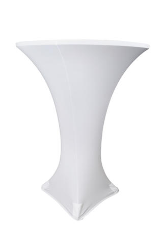 30in Cocktail Table with White Spandex
