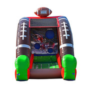 Football Toss Challenge with inflatable