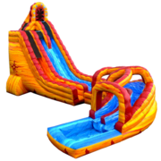 27 ft Lava Twist Water Slide