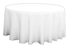 Table Linens White - 5' Round