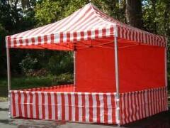 * 1 to 3 Carnival Booths - Striped *