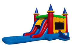 Castle Bounce and Slide - Wet