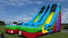 24 ft Dual Lane Wet/Dry Slide