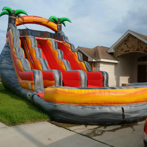 20ft. Lava Splash Double Lane Water or Dry Slide