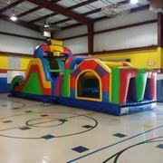 Obstacle Course 35ft with Double Lane Slide