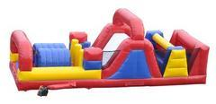 Red and Blue Double Lane Obstacle Course