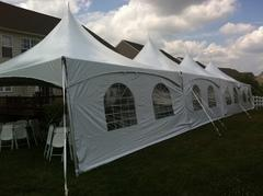 20x60 Frame Tent Package for 128 People With (16) 8' Tables and 128 Chairs