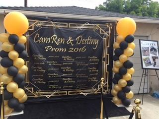 custom step and repeat vinyl backdrop 5x5