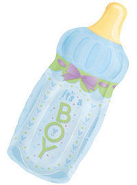 its a boy bottle jumbo mylar