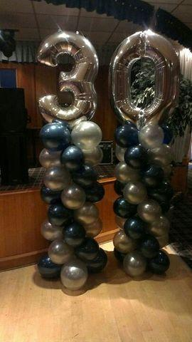 number or letter balloon column