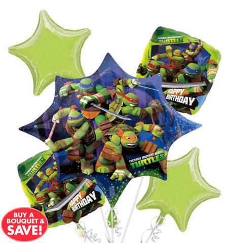Ninja Turtle  Mylar Balloon Bouquet