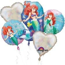 The Little Mermaid  Mylar Balloon Bouquet