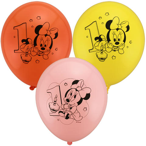 Baby Minnie Latex Balloons
