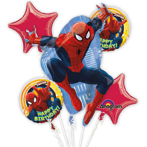 Spider Man   Mylar Balloon Bouquet
