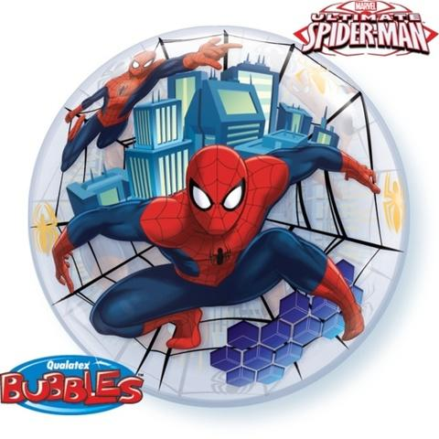 Spider Man  Clear Bubble Balloon