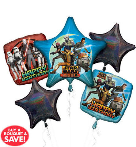 Star Wars  Mylar Balloon Bouquet