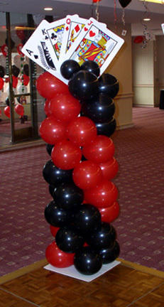casino balloon column