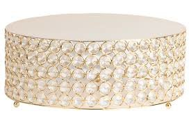 Small Crystal Gold Cake Stand