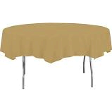Gold  Plastic Round  Table Cover