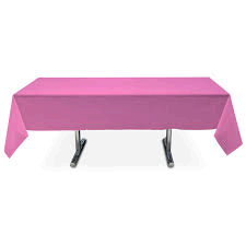 Hot Pink Plastic  Table Cover