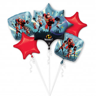 Incredibles 2  Mylar Balloon Bouquet