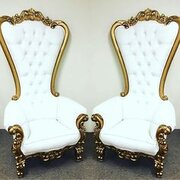 Throne Chair Gold set of 2