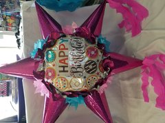 Donut Happy Birthday Star  Pinata
