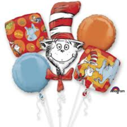 Cat in the Hat Balloon Bouquet