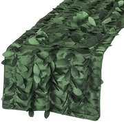 green leaf petal table runner