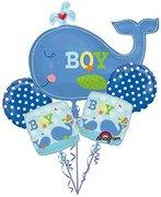 its a boy whale mylar bouquet