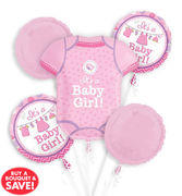 its a girl onesie mylar bouquet