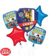 Paw Patrol Mylar Balloon Bouquet