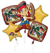 Jake & the Neverland  Mylar Balloon Bouquet