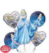 Cinderella  Mylar Balloon Bouquet