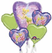 Tinker Bell Mylar Balloon Bouquet