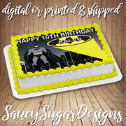 batman  edible cake image