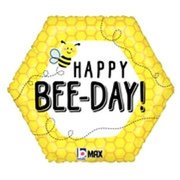 Happy Bee-Day Mylar Balloon