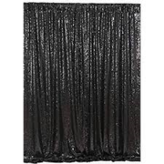 black sequin pipe and drape